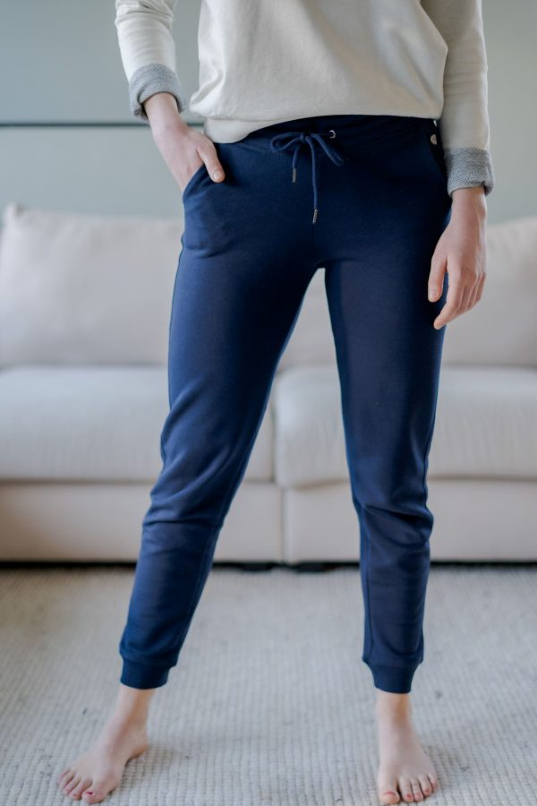 Loungepants donkerblauw