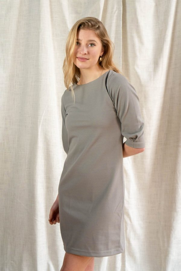 Dutchie Dress - granny gray