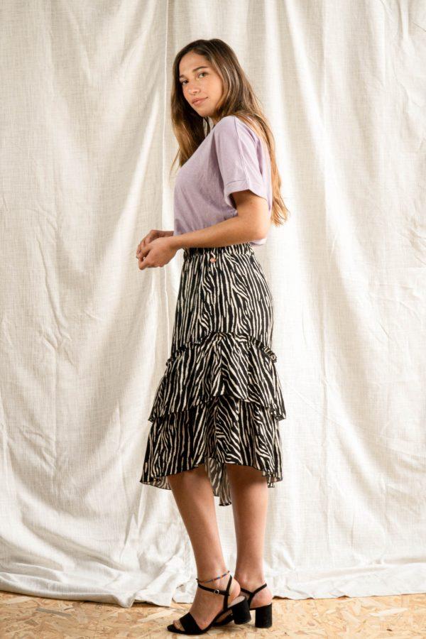 Fleur Midi Rok - zebra